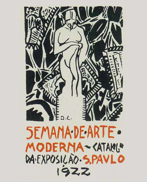 28 de maio Semana_de_arte_moderna_1922 (cartaz de Di Cavalcanti)