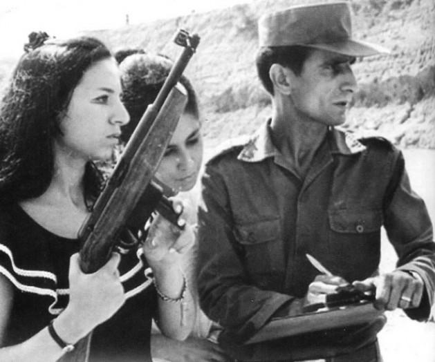 Carlos Lamarca em treinamento com sua companheira Iara Iavelberg