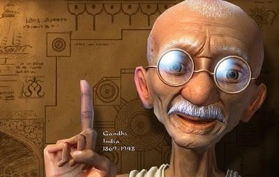 Moahandas Gandhi viveu entre 1869 e 1948 (fonte: blog Amigos das Letras)