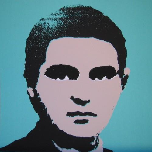 Foto 'oficial' de Luther Blissett em versão Andy Warhol