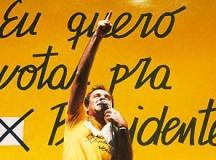 """O jornalista esportivo Osmar Santos comandou vários comícios no período e ficou conhecido como """"o locutor das Diretas"""" (fonte: Revista dos Bancários, 2003)"""