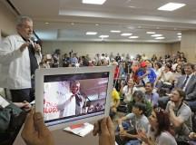 Lula discursa no Encontro dos Blogueiros  (fonte: Instituto Lula)