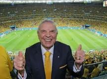 José Maria Marin todo pimpão no jogo do Brasil contra Camarões (foto: Ricardo Stuckert, CBF)