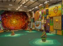 Foto panorâmica da exposição