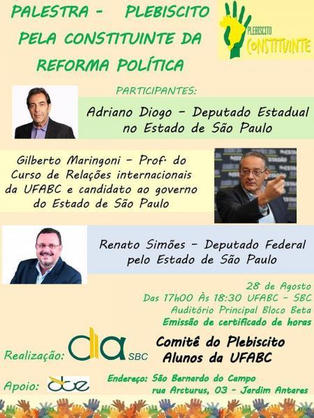 Debate por plebiscito pela reforma política