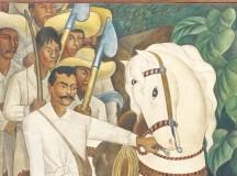 O pintor Diego Rivera retrata Zapata (obra de 1931) (fonte: site do MOMA)