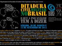 Evento Ditadura civil-militar, o que a psicanálise tem a dizer?