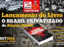 Debate de relançamento do livro O Brasil Privatizado, de Aloysio Biondi