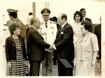 Os ditadores Figueiredo e Strossner na inauguração de Itaipu em 5 de novembro de 1982 (fonte: CPDOC - FGV)