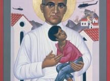 Quadro de artista salvadorenho mostra a veneração pelo bispo naquele país