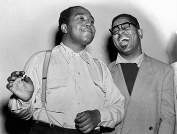 Charlie Parker e seu amigo Dizzy Gillespie