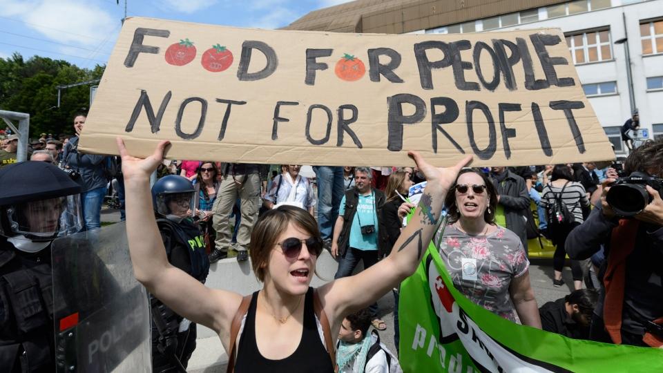 protesto Monsanto