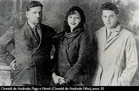 9 de junho oswald de andrade, Pagu e Oswald de Andrade Filho, Nonê foto 3