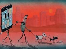 A classe média se conforma pelo consumo (desenho de Steve Cutts)