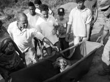 Moradores afetados pelo crime ambiental em Minas Gerais (foto de Gustavo Ferreira dos Jornalistas Livres)