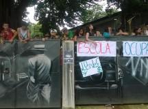 Ocupação na Escola Estadual Pio Telles Peixoto, na zona noroeste da cidade de São Paulo (fonte: Jornalistas Livres)