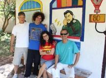 Equipe do programa Campo de Peixe da Rádio Campeche,em Florianópolis (SC)