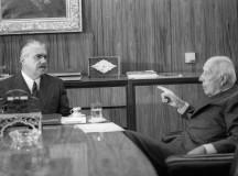 José Sarney e Ulysses Guimarães