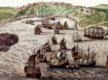 Pintura de Hassel Gerritsz sobre a invasão a Salvador em 1624