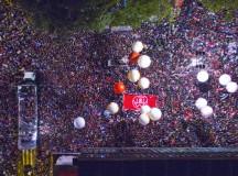 Avenida Paulista tomada na sexta, dia 10, no protesto Fora Temer (foto de Ricardo Stuckert)