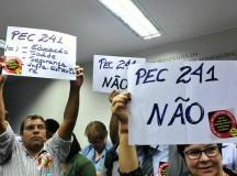 Protesto contra a PEC 241 (fonte: IELA)