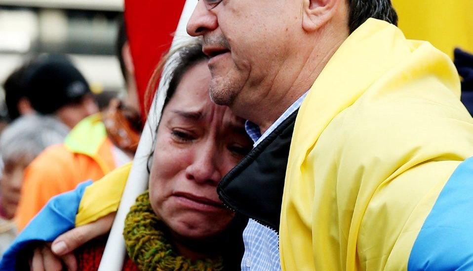 Lágrimas e tristeza: a paz ainda está longe (fonte: La Region)