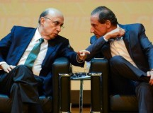 O ministro da Fazenda, Henrique Meirelles, e o presidente da FIESP, Paulo Skaf