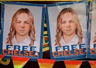 Cartazes pediam a liberdade de Chelsea Manning