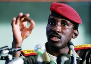O líder africano Thomas Sankara