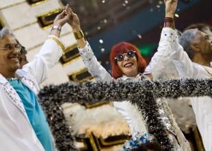 Caetano, Rita Lee e Gil entre os destaques da Águia de Ouro, no Sambódromo do Anhembi, em 2012