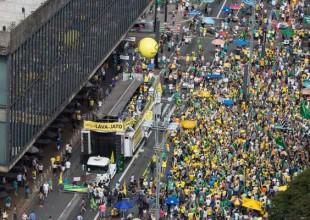 Protesto esvaziado em apoio a Lava Jato no dia 26 de março na avenida Paulista