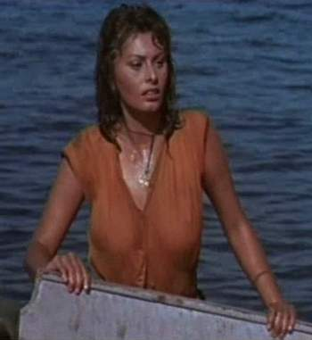 A atriz no filme A Lenda da Estátua Nua, Boy on a Dolphin, 1957