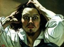 Homem desesperado,de Gustave Courbet (auto-retrato)