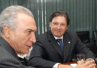 O presidente Michel Temer o deputado da mala Rodrigo Rocha Loures