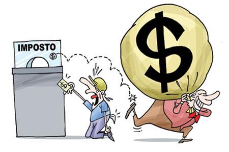 Ricos pagam menos impostos