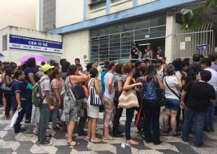 Fila para vacinação contra a febre amarela na cidade de São Paulo (fonte: Fotos Públicas)
